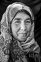 Fatima Habash, 55, from Kobani, and a mother of 8 children at refugee camp in Suruc, Turkey, October 25, 2014.
