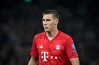 Niklas Sule of Bayern Munich during the UEFA Champions League group match between Tottenham Hotspur and Bayern Munich at Wembley Stadium, London, England on 1 October 2019. Photo by Andy Rowland.