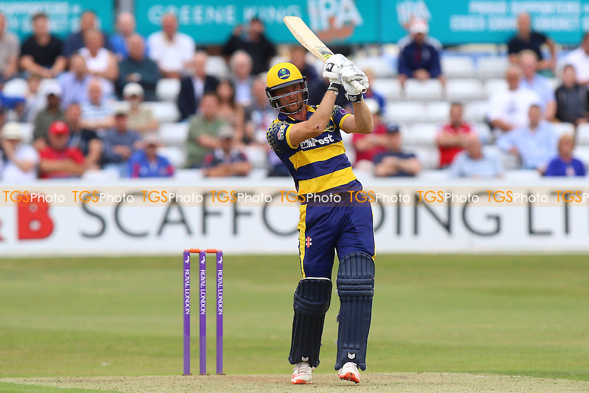 Graham Wagg hits four runs for Glamorgan during Essex Eagles vs Glamorgan, Royal London One-Day Cup Cricket at the Essex County Ground on 26th July 2016