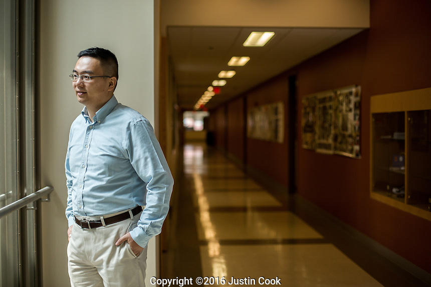 Dr. Zhen Gu. Gu is a medical researcher best known for his smart insulin patch at NC State University in Raleigh, NC on Wednesday, June 15, 2016. (Justin Cook)