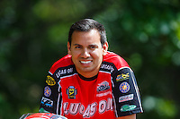 Aug 20, 2016; Brainerd, MN, USA; NHRA pro stock motorcycle rider Hector Arana Jr during qualifying for the Lucas Oil Nationals at Brainerd International Raceway. Mandatory Credit: Mark J. Rebilas-USA TODAY Sports