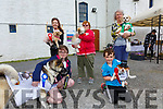 Winners from the Furry Friend Fancy Dress at the Barracks in Cahersiveen on Saturday were front l-r; Rebecca Thompson with Bonny(Best Big Dog), Sean Lyne with Bob(Most Eligible Bachelor), back l-r; Sheila O'Connell with Willow(Best Small Dog), Joan Orme with Ace(Best Fluffy Puppy) & Teresa McGillicuddy with Alfie(Best Behaved).