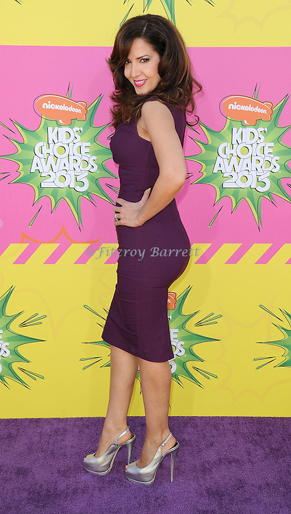 Maria Canals-Barrera arriving at the 2013 Nickelodeon Kid's Choice Awards, held at the USC Galen Center in Los Angeles, CA. on March 23, 2013.