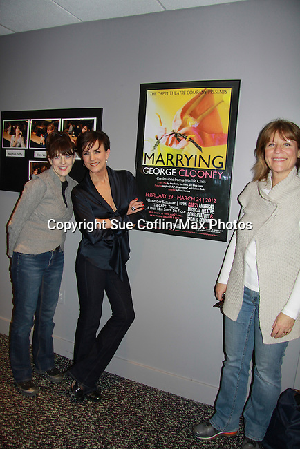 """As the World Turns' Colleen Zenk along with Eliza Ventura and Meghan Duffy (L) star in """"Marrying George Clooney: Confessions from a Midlife Crisis"""" on February 29, 2012 at Cap 21 America's Musical Thetre Conservatory & Theatre Company, New York City, New York.  (Photo by Sue Coflin/Max Photos)"""
