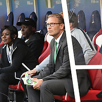 20190608 - REIMS , FRANCE : Nigerian coach Thomas Dennerby pictured during the female soccer game between Norway – the Grashoppene - and Nigeria – The Super Falcons - , the first game for both teams in group A during the FIFA Women's  World Championship in France 2019, Saturday 8 th June 2019 at the Auguste Delaune Stadium in Reims , France .  PHOTO SPORTPIX.BE | DIRK VUYLSTEKE