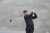 Jacob Davies from Wales on the 4th tee during Round 2 Singles of the Men's Home Internationals 2018 at Conwy Golf Club, Conwy, Wales on Thursday 13th September 2018.<br /> Picture: Thos Caffrey / Golffile<br /> <br /> All photo usage must carry mandatory copyright credit (&copy; Golffile | Thos Caffrey)