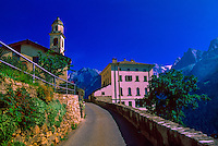 Village in the Swiss Alps, Soglio, Switzerland