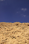 Israel, Negev, the Ammonite Wall in Ramon Crater