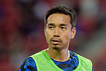 FC Internazionale Defender Yuto Nagatomo Warming up during the International Champions Cup match between FC Bayern and FC Internazionale at National Stadium on July 27, 2017 in Singapore. Photo by Weixiang Lim / Power Sport Images