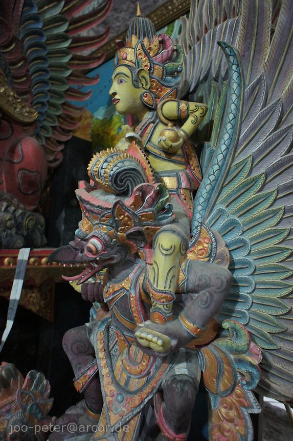 wood carving of Garuda by I Made Ada, Pakudui village Bali, archipelago Indonesia, 2010