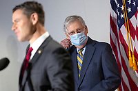 United States Senate Majority Leader Mitch McConnell (Republican of Kentucky) listens during a news conference following GOP policy luncheons on Capitol Hill in Washington D.C., U.S., on Tuesday, June 9, 2020.  Credit: Stefani Reynolds / CNP/AdMedia