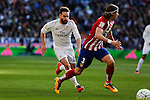 Real Madrid´s Carvajal during 2015/16 La Liga match between Real Madrid and Atletico de Madrid at Santiago Bernabeu stadium in Madrid, Spain. February 27, 2016. (ALTERPHOTOS/Victor Blanco)