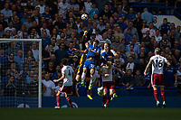 Burnley's Thomas Heaton punches clear<br /> <br /> Photographer Craig Mercer/CameraSport<br /> <br /> The Premier League - Chelsea v Burnley - Saturday August 12th 2017 - Stamford Bridge - London<br /> <br /> World Copyright &copy; 2017 CameraSport. All rights reserved. 43 Linden Ave. Countesthorpe. Leicester. England. LE8 5PG - Tel: +44 (0) 116 277 4147 - admin@camerasport.com - www.camerasport.com