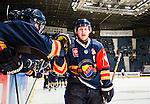 Stockholm 2015-09-04 Ishockey CHL Djurg&aring;rdens IF - EV Zug :  <br /> Djurg&aring;rdens Henrik Eriksson firar sitt 5-3 m&aring;l i &ouml;ppen m&aring;lbur under matchen mellan Djurg&aring;rdens IF och EV Zug <br /> (Foto: Kenta J&ouml;nsson) Nyckelord:  Ishockey Hockey CHL Hovet Johanneshovs Isstadion Djurg&aring;rden DIF Zug jubel gl&auml;dje lycka glad happy