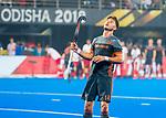 BHUBANESWAR (INDIA) - Robbert Kemperman (Ned)   tijdens Nederland-Canada bij het WK Hockey heren. COPYRIGHT KOEN SUYK