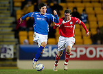 St Johnstone v Brechin...07.01.12  Scottish Cup Round 4.Fran Sandaza and Michael Dunlop.Picture by Graeme Hart..Copyright Perthshire Picture Agency.Tel: 01738 623350  Mobile: 07990 594431