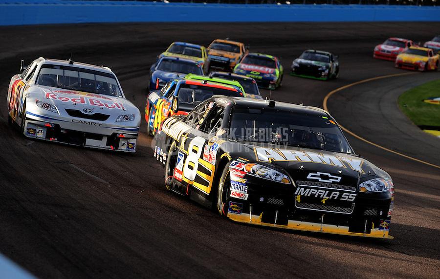 Nov. 9, 2008; Avondale, AZ, USA; NASCAR Sprint Cup Series driver Mark Martin during the Checker Auto Parts 500 at Phoenix International Raceway. Mandatory Credit: Mark J. Rebilas-