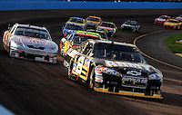 Nov. 9, 2008; Avondale, AZ, USA; NASCAR Sprint Cup Series driver Mark Martin during the Checker Auto Parts 500 at Phoenix International Raceway. Mandatory Credit: Mark J. Rebilas-