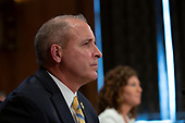 Acting Commissioner of U.S. Customs and Border Protection Mark Morgan and Deputy Inspector General of U.S. Department of Homeland Security Jennifer Costello testify before the U.S. Senate Committee on Homeland Security on Capitol Hill in Washington D.C., U.S. on July 30, 2019. <br /> <br /> Credit: Stefani Reynolds / CNP