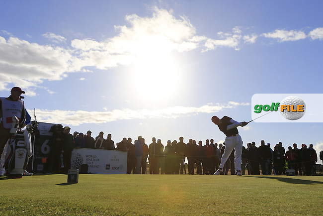 Denny McCarthy (USA) during the Saturday afternoon singles matches on for the Walker Cup, Royal Lytham St Annes, Lytham St Annes, Lancashire, England. 12/09/2015<br /> Picture Golffile | Fran Caffrey