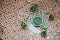 Photo of a fountain in the courtyard of Maison de la Photographie, Marrakech (Marrakesh), Morocco, North Africa, Africa.