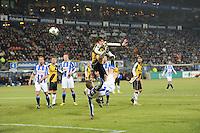 VOETBAL: SC HEERENVEEN: Abe Lenstra Stadion, 17-02-2012, SC-Heerenveen-NAC, Eredivisie, Eindstand 1-0, Jeffrey Gouweleeuw (3), Eric Botteghin, ©foto: Martin de Jong