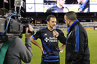 San Jose, CA - Saturday April 08, 2017: Marco Ureña  after a Major League Soccer (MLS) match between the San Jose Earthquakes and the Seattle Sounders FC at Avaya Stadium.