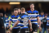 Luke Charteris of Bath Rugby looks on after the final whistle. Aviva Premiership match, between Bath Rugby and Sale Sharks on February 24, 2018 at the Recreation Ground in Bath, England. Photo by: Patrick Khachfe / Onside Images