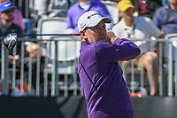 Ian Poulter (ENG) watches his tee shot on 1 during round 1 of the Arnold Palmer Invitational at Bay Hill Golf Club, Bay Hill, Florida. 3/7/2019.<br />