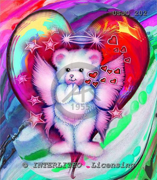 Marie, REALISTIC ANIMALS, REALISTISCHE TIERE, ANIMALES REALISTICOS, paintings+++++,USJO202,#A# ,Joan Marie ,bear angel heart