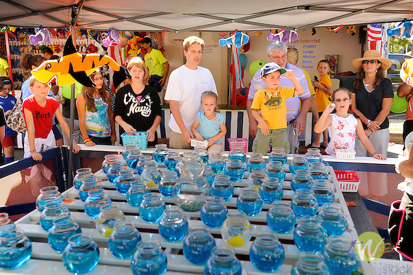 32nd Annual Selinsgrove Market Street Festival. Goldfish in a bowl toss game.