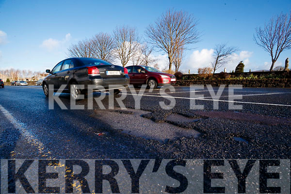 Potholes on the main road in to Tralee near University Hospital Kerry.