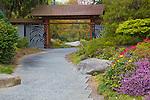 Seattle, WA<br /> Pathway and entrance gate at Kubota garden