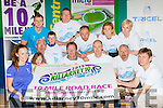 Front Aislinn and Jerry Griffin, launching the Killarney 10 mile road race which will be held on the 26th September Middle Row: Sean, Aoife Cathal Coffey, John Bowler, Sean O'Sullivan. Back row: Chris Lynch, John O'Shea, Alan ryan, Brid stack, Jean courtney,