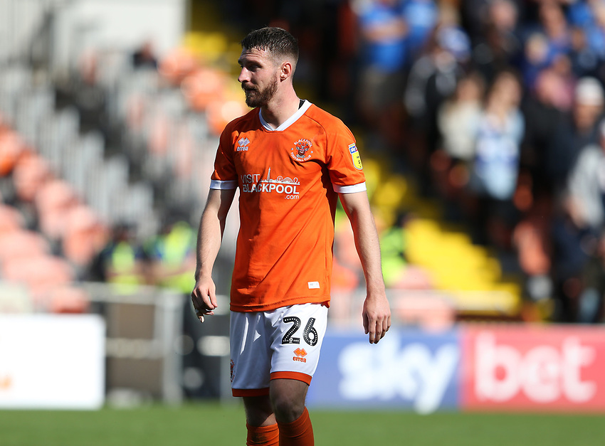 Blackpool's James Husband<br /> <br /> Photographer Stephen White/CameraSport<br /> <br /> The EFL Sky Bet League One - Blackpool v Portsmouth - Saturday 31st August 2019 - Bloomfield Road - Blackpool<br /> <br /> World Copyright © 2019 CameraSport. All rights reserved. 43 Linden Ave. Countesthorpe. Leicester. England. LE8 5PG - Tel: +44 (0) 116 277 4147 - admin@camerasport.com - www.camerasport.com