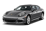2015 Porsche Panamera - 5 Door Hatchback 2WD Angular Front stock photos of front three quarter view