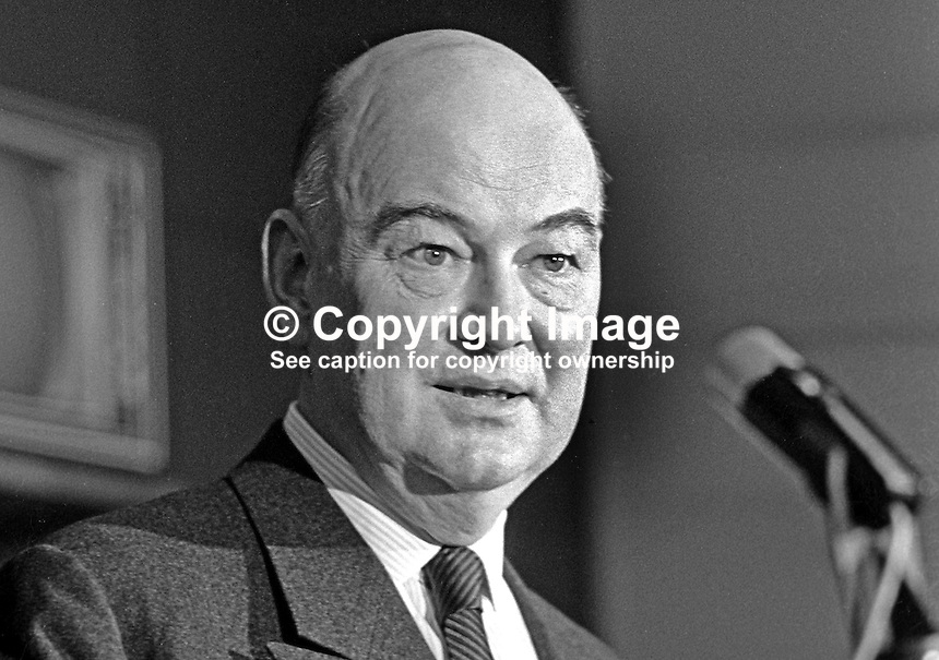 Iver Hoppe, Danish, managing director, Harland &amp; Wolff, shipyard, Belfast, N Ireland, UK, 198/73, 197304150198a.<br />