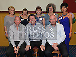 Committee members Marie McKenny, Mary Monaghan, Gwen Gaughran, Bernie McAdam, Joan farrelly, Padraig Lynch, Noel Malone and Joe White at the Ardee CS Leaving Cert Class of 1976 reunion in Ardee Golf Club. . Photo:Colin Bell/pressphotos.ie