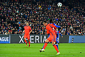 31st October 2017, St Jakob-Park, Basel, Switzerland; UEFA Champions League, FC Basel versus CSKA Moscow; Dimitri Oberlin of FC Basel challenges Viktor Vasin of CSKA Moscow for the ball