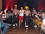 Niamh Kelly makes an entrance at the White Collar Boxing in Ardee Parish Centre. Photo:Colin Bell/pressphotos.ie