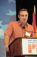 Tempe, Arizona. October 13, 2012 - Republican candidate Matt Salmon -former US congressman- is running for the 5th Congressional District of Arizona. In 2002, Salmon lost the Arizona governor's race to Janet Napolitano. Hundreds of Arizona registered voters participated in a political rally where candidates for the US Senate, House of Representatives, state legislature, Maricopa County and other public offices pitched for votes for the upcoming general election. Photo by Eduardo Barraza © 2012