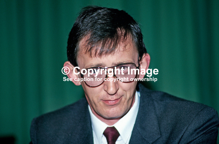 Brendan Curran, prominent member, Provisional Sinn Fein, N Ireland, 19870602BC..Copyright Image from Victor Patterson, 54 Dorchester Park, Belfast, UK, BT9 6RJ..Tel: +44 28 9066 1296.Mob: +44 7802 353836.Voicemail +44 20 8816 7153.Skype: victorpattersonbelfast.Email: victorpatterson@me.com.Email: victorpatterson@ireland.com (back-up)..IMPORTANT: If you wish to use this image or any other of my images please go to www.victorpatterson.com and click on the Terms & Conditions. Then contact me by email or phone with the reference number(s) of the image(s) concerned.