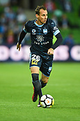3rd November 2017, Melbourne Rectangular Stadium, Melbourne, Australia; A-League football, Melbourne City FC versus Sydney FC; Luke Wilkshire of Sydney FC looks up the ground whilst running with the ball