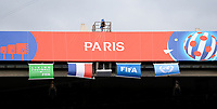 20190607 - PARIS , FRANCE : illustration picture shows the Paris Banner on top of the stands during the female soccer game between France – Les Bleues  and Korea Republic, the opening game and first game for both teams in group A during the FIFA Women's  World Championship in France 2019, Friday 7 th June 2019 at the Parc des Princes Stadium in Paris , France .  PHOTO SPORTPIX.BE | DAVID CATRY