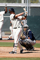 Charlie Culberson -San Francisco Giants 2009 Instructional League. .Photo by:  Bill Mitchell/Four Seam Images..