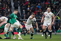 Twickenham, United Kingdom.   Natwest 6 Nations : England vs Ireland. Conor MURRAY kicks  clear.at the  RFU Stadium, Twickenham, England, <br />
