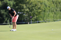 Angela Stanford (USA) putts on 16th green during Thursday's Round 1 of The Evian Championship 2018, held at the Evian Resort Golf Club, Evian-les-Bains, France. 13th September 2018.<br /> Picture: Eoin Clarke | Golffile<br /> <br /> <br /> All photos usage must carry mandatory copyright credit (&copy; Golffile | Eoin Clarke)