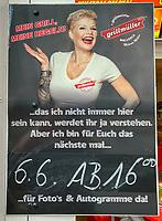 Restaurant Grillmüller von Reality-Star, Dschungelkönigin und Ballermann-Star Melanie Müller an der Promenade von Paguera mit Ankündigung einer Autogrammstunde - Peguera 25.05.2019: Mallorca