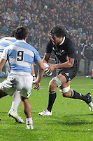 Steven Luatua  during the 2013 Rugby Championship - All Blacks v Argentina at Waikato Stadium, Hamilton, New Zealand on Saturday, 7th September   2013. Copyright Dion Mellow Photography. Credit DMP / Dion Mellow