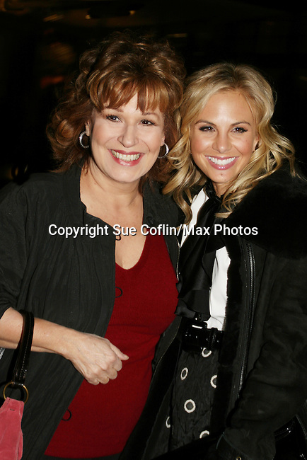The View's Joy Behar and Elisabeth Hasselbeck at the ABC Daytime Casino Night on October 23, 2008 at Guastavinos, New York CIty, New York. (Photo by Sue Coflin/Max Photos)